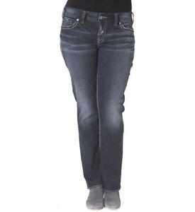 5658a5ec IR Silver Jeans Suki Mid Slim Boot Flap Pocket Fluid Denim Dark wash ...