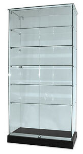 Antiques Flat Packed Glass Display Cabinet On Castors