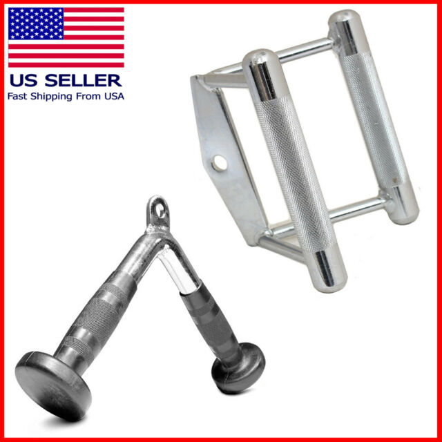 Attachment Weight Lifting Tricep Bar Lat Machine Fitness Single D Handle Cable