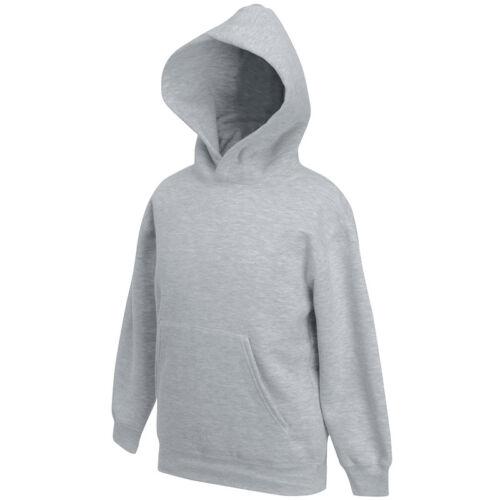 Fruit of the Loom Classic Kids Hooded Pullover Sweatshirt Warm Children's Hoodie