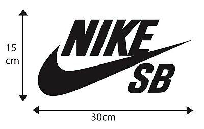 X2 BIG Nike SB Skateboarding Snowboarding Logo Decal Stickers