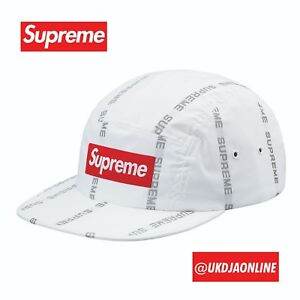 4fb78cb4344 Image is loading Supreme-Reflective-Text-Camp-Cap-White-SOLD-OUT