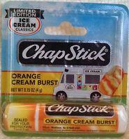 Chapstick Orange Cream Burst Ice Cream Classics Lip Balm Discontinued Carded Nip