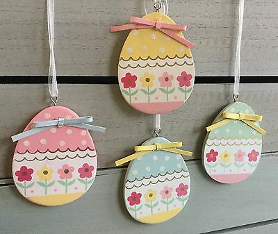 Colourful Wooden Easter Egg Decorations Gisela Graham Vintage Tree Country