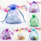 10/30/50/100/200X Candy Drawstring Organza Jewelry Wedding Gift Pouch Bags 7X9cm