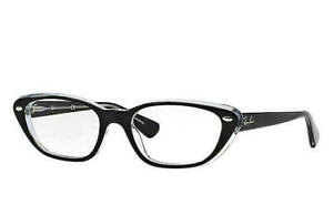 Ray Ban Rx Frame Black /Clear RX5242 2034 53mm 5242 AUTHENTIC Cat eye Classic