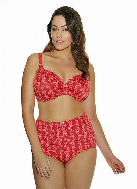 Elomi Nina Collection 38I 2X Bandless Bra Panty Set Valentine Red New  116