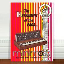 "Mini Moog Model D 1970's Ad Poster Art ~ CANVAS PRINT 16x12"" minimoog"