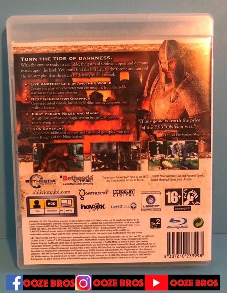 The elder scrolls 4 - Oblivion, PS3, MMORPG
