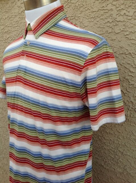 Awesome Tommy Bahama Multi-Colored Men's Medium 18 Golf  Shirt C95