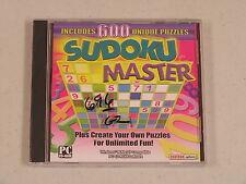 Sudoku Master PC CD-ROM Windows 98/Me/XP - NEW in SLV