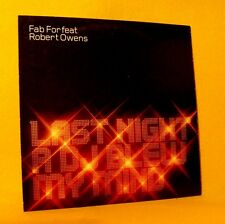 Cardsleeve single CD Fab For Robert Owens Last Night A DJ Blew My Mind 2TR House