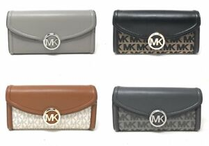 Michael-Kors-Fulton-Flap-Large-Continental-Leather-Wallet-MK-Signature-Leather