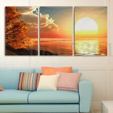 5pcs Modern Abstract Sun Sea Sky Wall Decor Art Oil Painting On Canvas Unframed