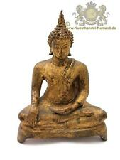 Buddha Figur Bronze Blattgold Thai, Thailand Sukothai 19 Jhr.