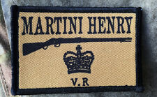 Martini Henry Morale Patch British Redcoat Tactical Military USA Hook Badge Army