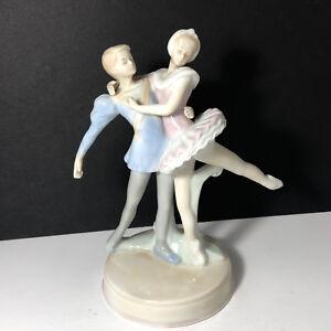 Details about VINTAGE PORCELAIN BALLERINA FIGURINE STATUE SCULPTURE RUSS  COUPLE DANCING DANCE