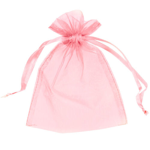 Personalised Baby Shower Favour Organza Thank You Gift Bags Blue Pink Peach