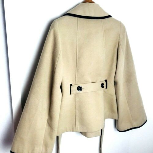 Double Bell Coat Camel Unique Døde Sleeved Uk 12 Røde Breasted eller Kvinder 10 161zAnU