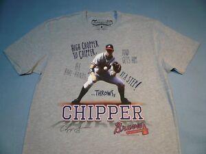3c218885d Mitchell   Ness Chipper Jones HOF Atlanta Braves NEW shirt MLB Hall ...