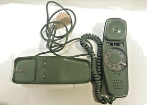 Vintage Green TRIMLINE Rotary Dial Phone Western Electric Bell System 1960s AD1