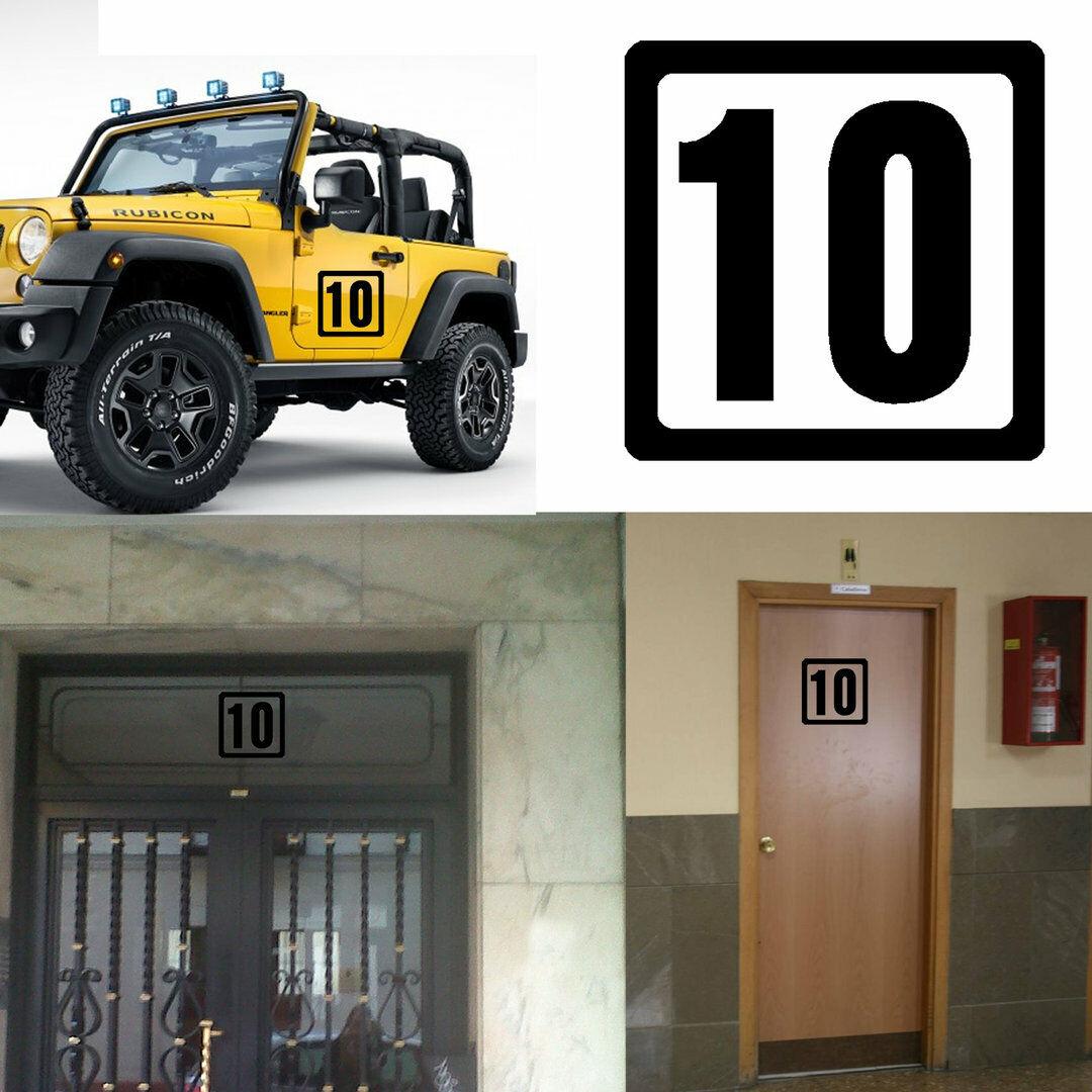 DIECINUEVE Stiker vinyl cut number NINETEEN Pegatina vinilo Numero 19