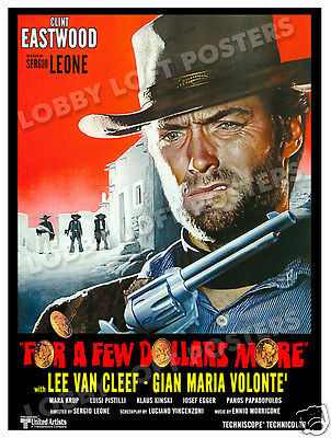FOR A FEW DOLLARS MORE LOBBY CARD POSTER OS/IT 1967 CLINT EASTWOOD