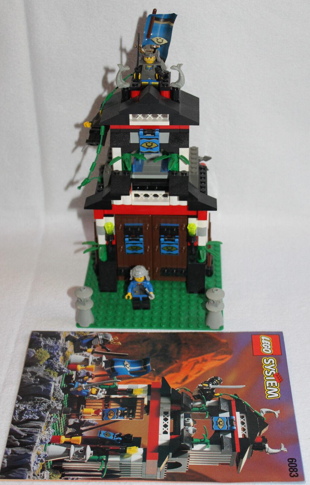 LEGO 6083 Shoguns Festung Samurai Stronghold von 1998 komplett + Bauanleitung
