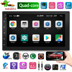 2-DIN-7in-Android-9-1-Car-Stereo-MP5-Player-GPS-Navigation-BT-Radio-Head-Unit