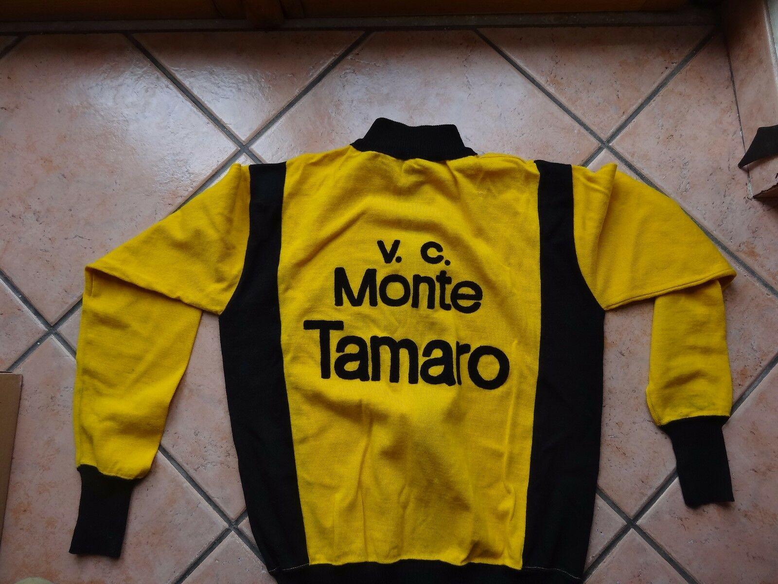 Vintage Velo Club Monte jersey Tamaro jersey Monte cycling wool original L'Eroica 504a69