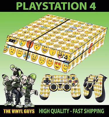 Pc- & Videospiele Controller Abziehbilder Flach Dutiful Ps4 Hülle Emoji Smiley Gelb Emoticons Aufkleber