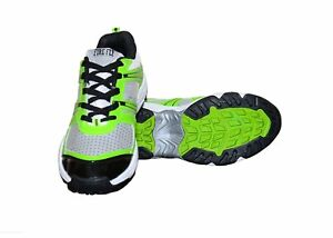 Men-039-s-Team-Sports-Cricket-Shoes-WARRIOR-Green-Rubber-Sole-In-PU-Lace-UP-Closer