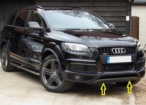 Genuine-Audi-Q7-10-15-S-LINE-PARACHOQUES-DELANTERO-INFERIOR-Cenefa-Ribete-Gris-4L08071101RR