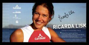 Ricarda Lisk Autogrammkarte Original Signiert Triathlon ## BC G 31706