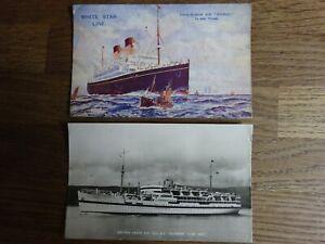 2-x-Used-Vintage-postcards-Ships-White-Star-Line-amp-British-India-Dunera