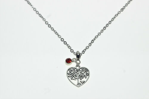 Heart tree of life charm  spiritual necklace jewellery gift family sentiment