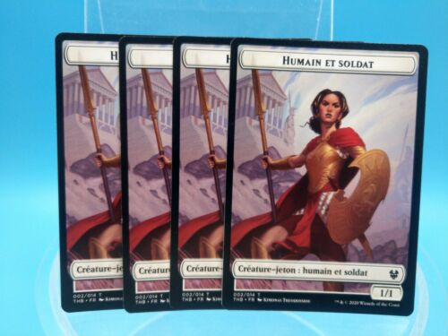 carte x4 magic MTG theros FR jeton humain et soldat