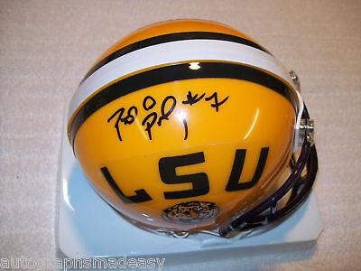 Patrick Peterson Lsu Tigers Signed Helmet W/coa Autographs-original Football