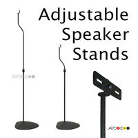 "Universal Adjustable Speaker Stands 31-41"". (1 Pair), Many Adapters. Black."