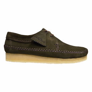 NEW CLARKS OF ENGLAND ORIGINAL EXCLUSIVE PEAT OLIVE GREEN SUEDE WEAVER WALLABEE