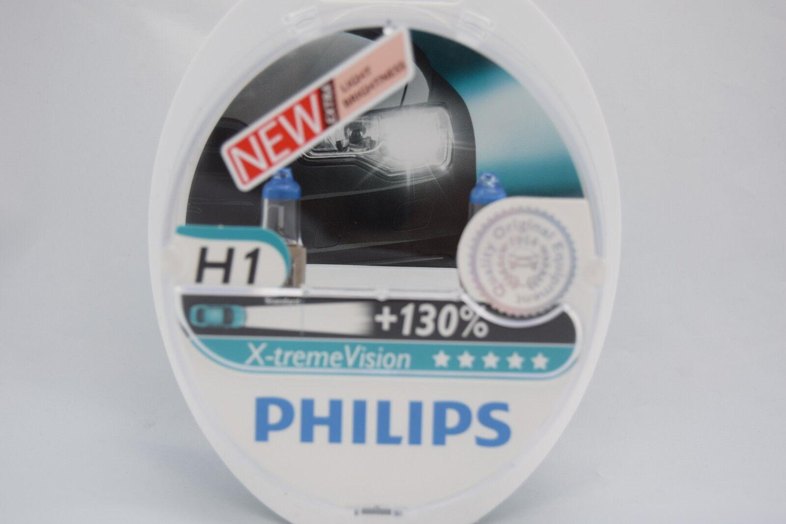 FITS ALFA ROMEO 155 1992+H1 PHILIPS SET OF 2 NEW X-TREME VISION  HEADLIGHT BULBS