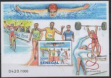 Senegal 2016 Mi. Bl. ? Jeux Olympiques Olympic Games Olympia Rio de Janeiro