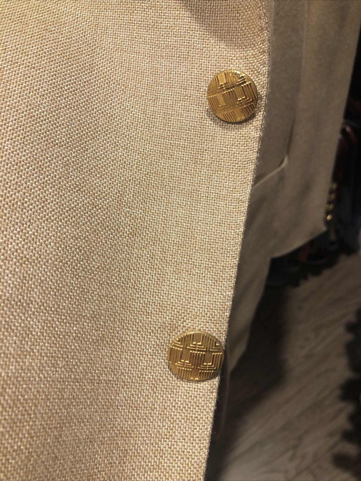 Vintage Lanvin Linen Blazer jacket Men's 42s  197… - image 8