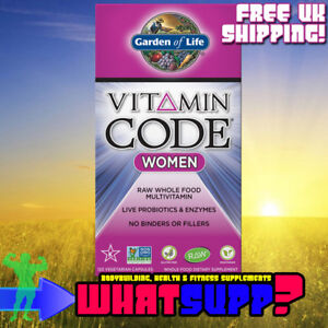 GARDEN-OF-LIFE-Vitamin-Code-WOMEN-x120-Vcaps-RAW-Multivitamin-Probiotics-Enzymes