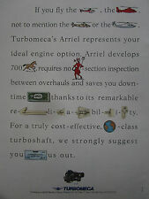 1989-90 PUB TURBOMECA ARRIEL ENGINE HELICOPTER TURBOSHAFT REBUS ORIGINAL AD