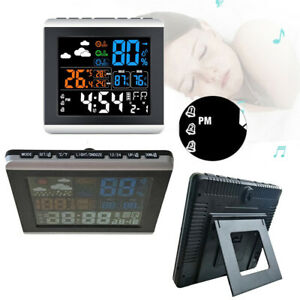 Digital-Alarm-Clock-With-Thermometer-Hygrometer-Weather-Station-Sound-Control
