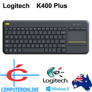 Details about Logitech K400 Plus Wireless Touch Keyboard with Multi-Touch  Touchpad 2 4GHz