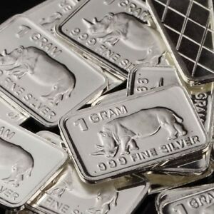 Lot-30-X-1-Gram-999-Fine-Silver-Bar-Bullion-Rhinoceros-WPT373-oz