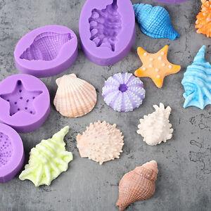 3D-Undersea-Shell-Silicone-Fondant-Mould-Cake-Decor-Gumpaste-Fimo-Sugarcraft-DIY