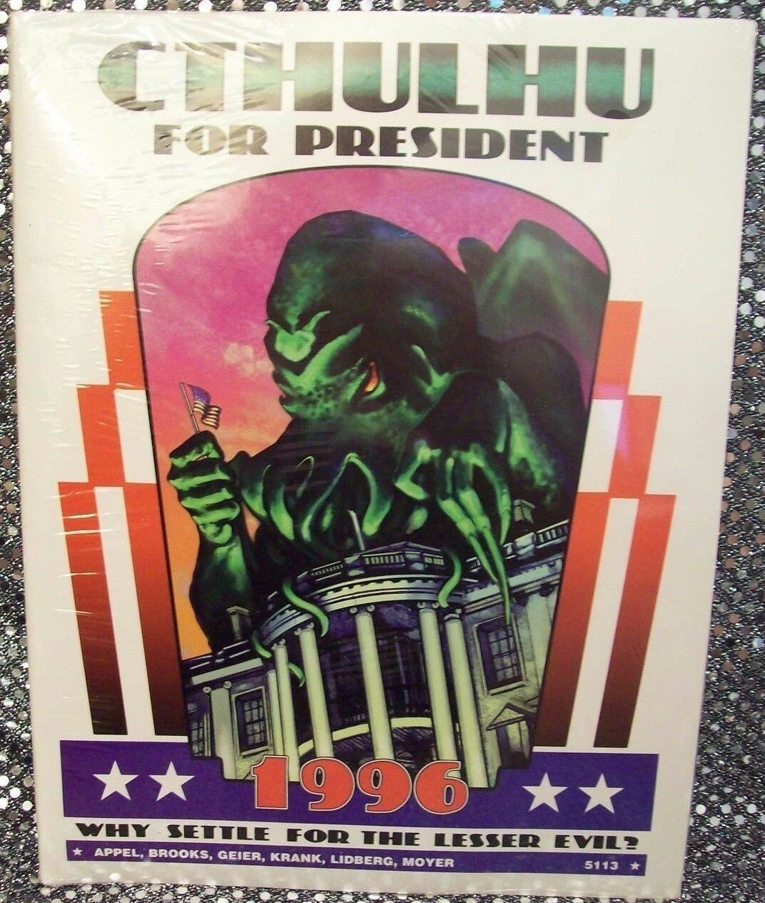 CALL OF CTHULHU: CTHULHU FOR PRESIDENT~CHAOSIUM  5113  1996  HP LOVECRAFT/TRUMP